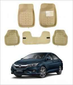 Trigcars Car Carpet Cream Car Floor/foot Mats For Honda City New