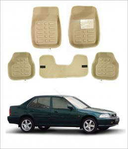 Trigcars Car Carpet Cream Car Floor/foot Mats For Honda City Old
