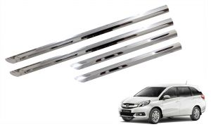 Side beading for cars - Trigcars Honda Mobilio Car Steel Chrome Side Beading
