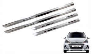 Trigcars Hyundai I10 Grand New Car Steel Chrome Side Beading