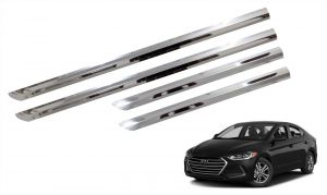 Side beading for cars - Trigcars Hyundai Elantra Car Steel Chrome Side Beading