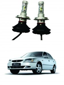 Headlights and bulbs - Trigcars Hyundai Accent Car Glass Led Head Light