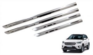 Side beading for cars - Trigcars Hyundai Creta Car Steel Chrome Side Beading