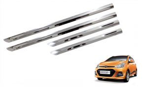 Side beading for cars - Trigcars Hyundai i10 Grand Car Steel Chrome Side Beading