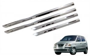 Side beading for cars - Trigcars Hyundai Santro Xing GL Car Steel Chrome Side Beading
