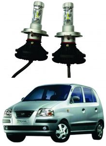 Headlights and bulbs - Trigcars Hyundai Santro Xing GL Car Glass Led Head Light