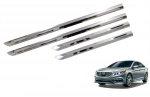 Side beading for cars - Trigcars Hyundai Sonata New Car Steel Chrome Side Beading