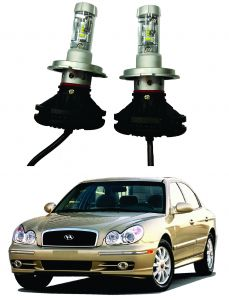 Headlights and bulbs - Trigcars Hyundai Sonata Old Car Glass Led Head Light
