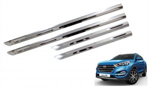 Side beading for cars - Trigcars Hyundai Tucson Car Steel Chrome Side Beading