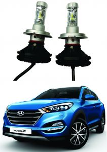 Headlights and bulbs - Trigcars Hyundai Tucson Car Glass Led Head Light