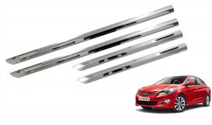 Side beading for cars - Trigcars Hyundai Verna Car Steel Chrome Side Beading