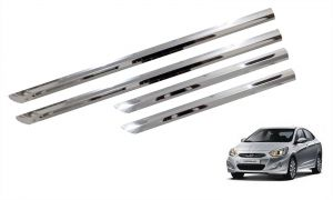 Side beading for cars - Trigcars Hyundai Verna Fluidic Car Steel Chrome Side Beading