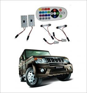 Trigcars Mahindra Bolero 2 X 16 Colors Rgb Bright 5050 LED Car Roof Dome Light Festoon T10 IR Remote