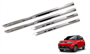 Side beading for cars - Trigcars Mahindra Kuv100 Car Steel Chrome Side Beading