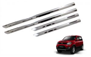Side beading for cars - Trigcars Mahindra NuvaSport Car Steel Chrome Side Beading