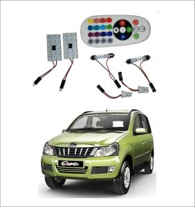 Trigcars Mahindra Quanto 2 X 16 Colors Rgb Bright 5050 LED Car Roof Dome Light Festoon T10 IR Remote