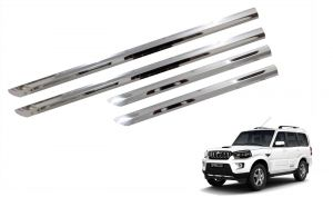 Side beading for cars - Trigcars Mahindra Scorpio New Car Steel Chrome Side Beading