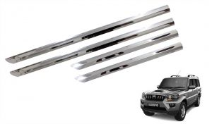 Side beading for cars - Trigcars Mahindra Scorpio Old Car Steel Chrome Side Beading