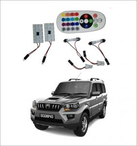 Trigcars Mahindra Scorpio Old 2 X 16 Colors Rgb Bright 5050 LED Car Roof Dome Light Festoon T10 IR Remote