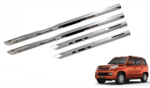 Side beading for cars - Trigcars Mahindra TUV 300 Car Steel Chrome Side Beading