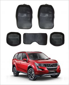 Trigcars Car Carpet Black Car Floor/foot Mats For Mahindra Xuv 500 18
