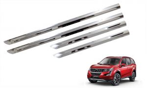 Side beading for cars - Trigcars Mahindra XUV 500 2018 Car Steel Chrome Side Beading