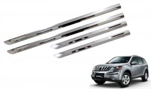 Trigcars Mahindra Xuv 500 Car Steel Chrome Side Beading