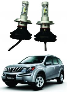 Headlights and bulbs - Trigcars Mahindra XUV 500 Car Glass Led Head Light