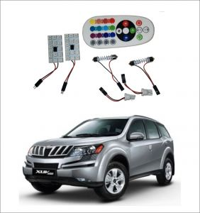 Trigcars Mahindra Xuv 500 2 X 16 Colors Rgb Bright 5050 LED Car Roof Dome Light Festoon T10 IR Remote