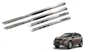 Trigcars Mahindra Xuv 500 New Car Stee;l Chrome Side Beading