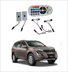 Trigcars Mahindra Xuv 500 New 2 X 16 Colors Rgb Bright 5050 LED Car Roof Dome Light Festoon T10 IR Remote