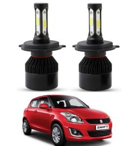Trigcars Maruti Suzuki Swift 2006 LED Headlight Nighteye Light Set Of 2