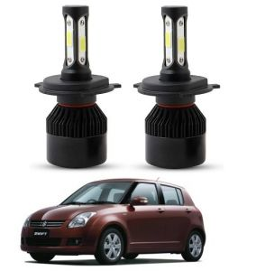 Trigcars Maruti Suzuki Swift 2009 LED Headlight Nighteye Light Set Of 2