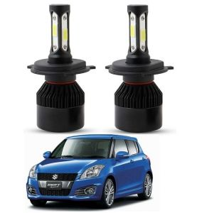 Trigcars Maruti Suzuki Swift 2012 LED Headlight Nighteye Light Set Of 2
