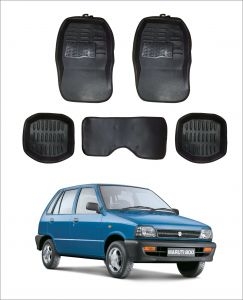 Trigcars Car Carpet Black Car Floor/foot Mats For Maruti Suzuki 800