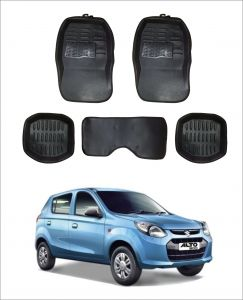 Trigcars Car Carpet Black Car Floor/foot Mats For Maruti Suzuki Alto 800 T1