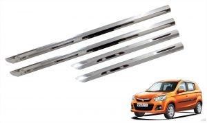 Side beading for cars - Trigcars Maruti Suzuki Alto k10 Car Steel Chrome Side Beading