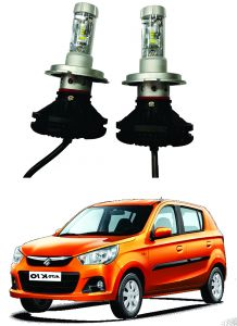 Headlights and bulbs - Trigcars Maruti Suzuki Alto K10 Car Glass Led Head Light