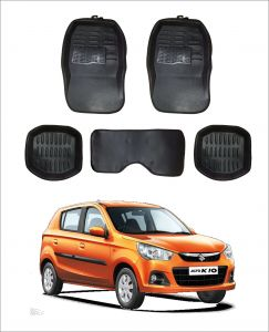 Trigcars Car Carpet Black Car Floor/foot Mats For Maruti Suzuki Alto K10