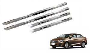 Trigcars Maruti Suzuki Ciaz Car Steel Chrome Side Beading