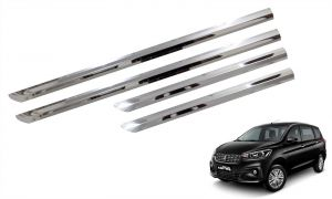 Side beading for cars - Trigcars Maruti Suzuki Ertiga 2018 Car Steel Chrome Side Beading