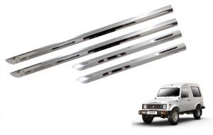 Side beading for cars - Trigcars Maruti Suzuki Gypsy Car Steel Chrome Side Beading