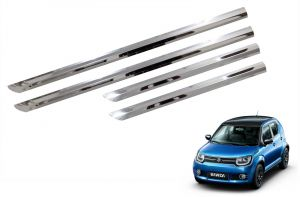Side beading for cars - Trigcars Maruti Suzuki Ignis Car STeel Chrome Side Beading