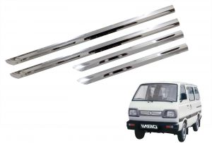 Side beading for cars - Trigcars Maruti Suzuki Omni Car Steel Chrome Side Beading