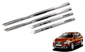 Trigcars Maruti Suzuki S-cross Car Steel Chrome Side Beading