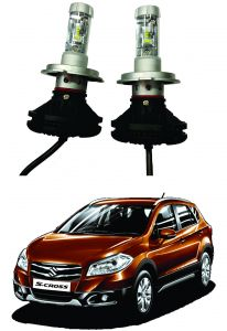 Trigcars Maruti Suzuki S Cross Car Glass LED Head Light