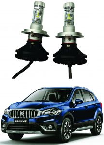 Headlights and bulbs - Trigcars Maruti Suzuki S Cross New Car Glass Led Head Light