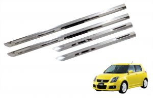 Side beading for cars - Trigcars Maruti Suzuki Swift 2015-2016 Car Steel Chrome Side Beading