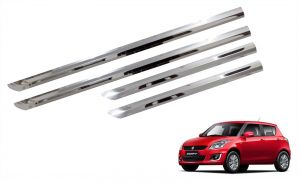 Side beading for cars - Trigcars Maruti Suzuki Swift 2010-2014 Car Steel Chrome Side Beading