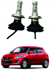 Headlights and bulbs - Trigcars Maruti Suzuki Swift 2010-2014 Car Glass Led Head Light